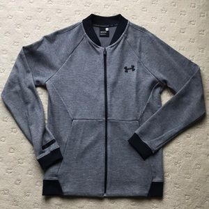 Grey Under Armor Men's Fleece Jacket (Size S)